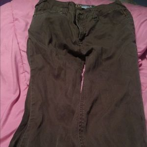 wizards of waverly place disney brown pants